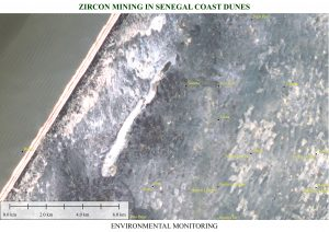 Senegal Zicon Mining in Senegal coast dunes